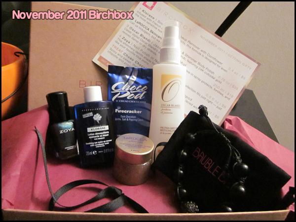 November Birchbox