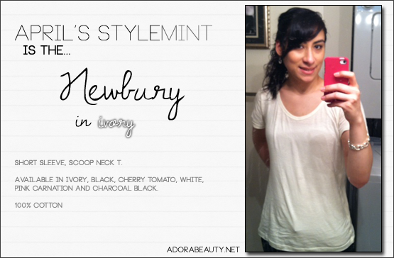 "Stylemint ""Newbury"" Tee (and Jewelmint extra!)"