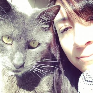 And here's a selfie of the kitty and I, because what else do I ever take photo's of?